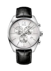 Calvin Klein Exchange Silverfärgad/Läder