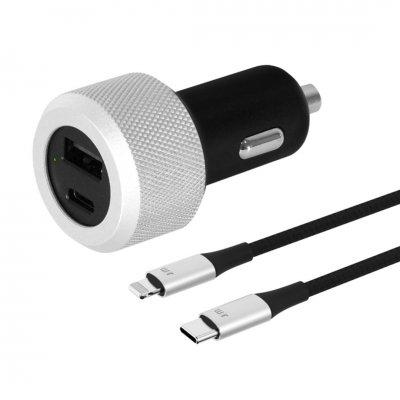Billaddare + USB-C Lightning-kabel