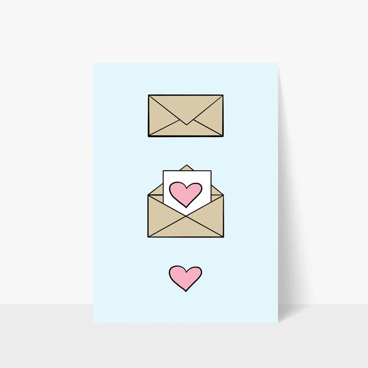 Love Letter Print A3