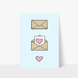 Love Letter Print A3