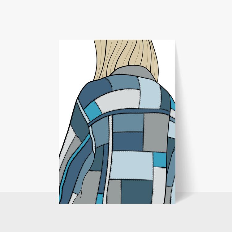 Denim Jacket Print A3