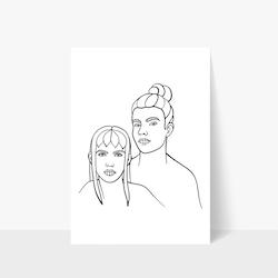 Him & Her Print A3