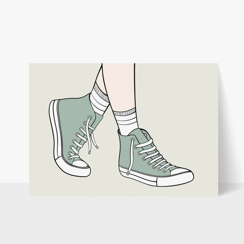 Sneakers Print A3