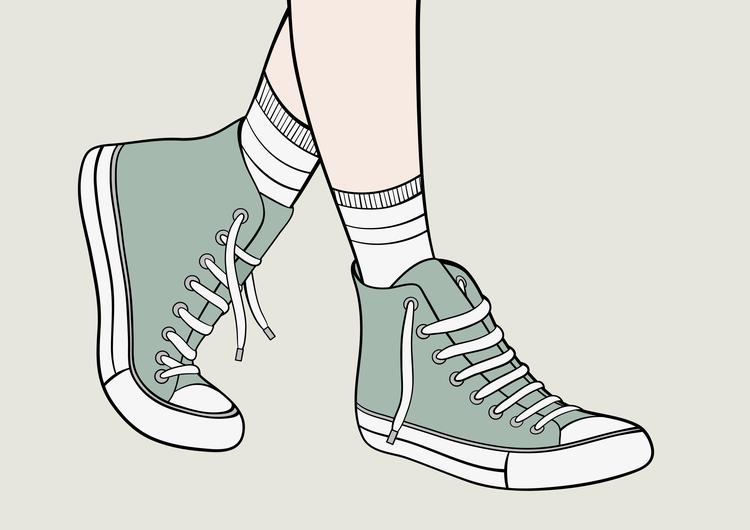 Sneakers Print A3