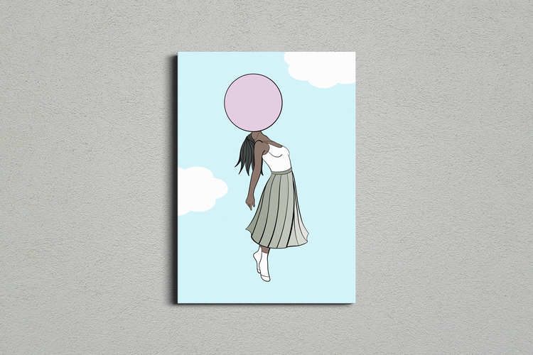 Bubble Gum Print A2