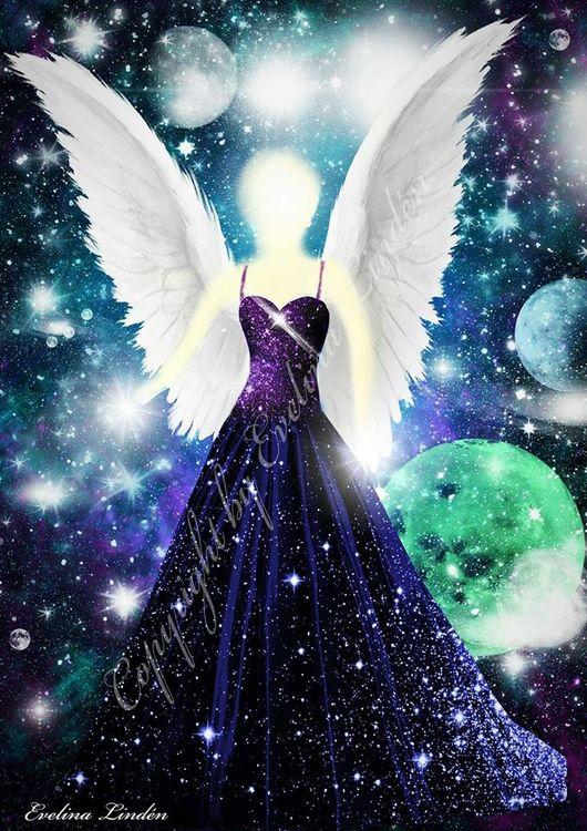 Canvas tavla Galaktiska Ljusängeln Från Änglar i mitt hjärta.
