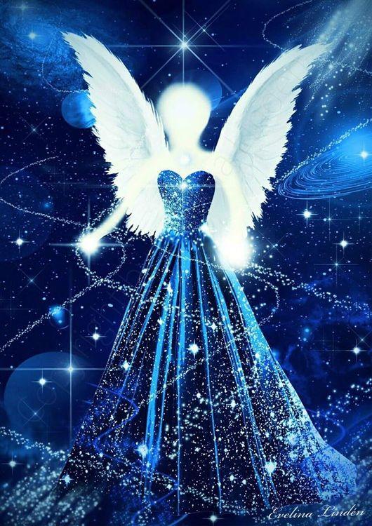 Canvas tavla Diamant ljus Ängeln från Änglar i mitt hjärta.