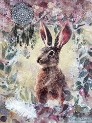 Canvas tavla Helande Kraftdjur Haren