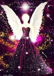 Canvas tavla Livets ängel från Änglar i mitt hjärta