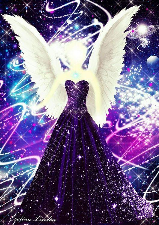Canvas tavla Magins Ängel från Änglar i mitt hjärta.