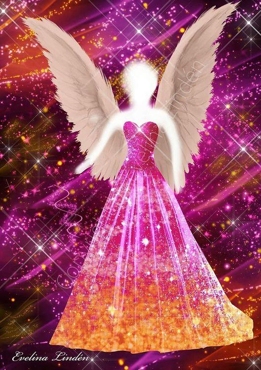 Canvas tavla Livsglädjens Ängel från Änglar i mitt hjärta.