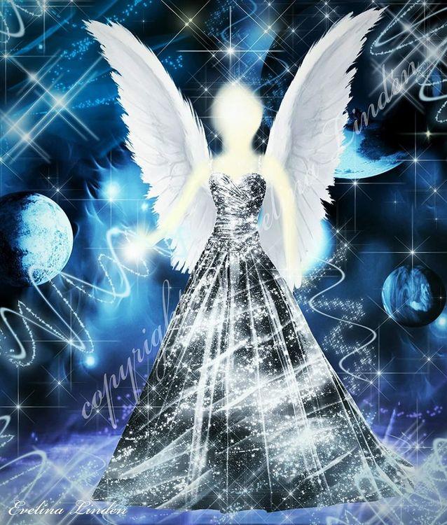 Canvas tavla Silverljus Ängeln från Änglar i mitt hjärta.