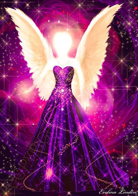 The purple angel of healing.