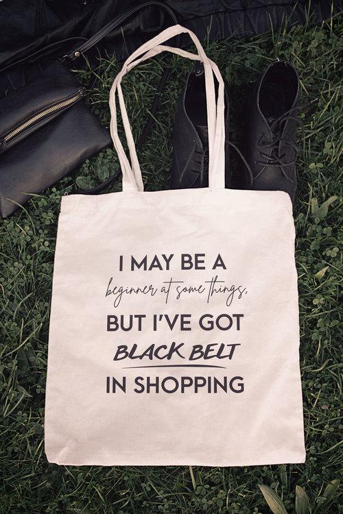 ECO Tygpåse - Black Belt in shopping