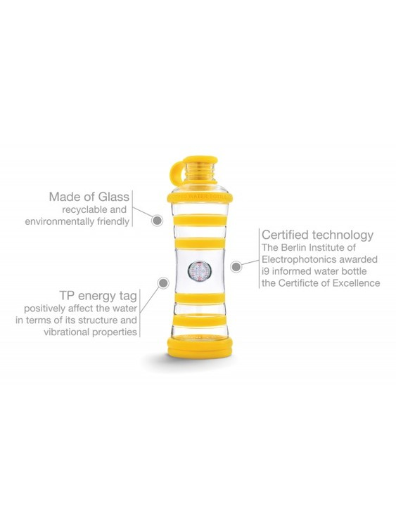 i9 Glasflaska Gul - Sunlight