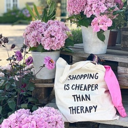 ECO Tygpåse - Shopping Is Cheaper Than Therapy