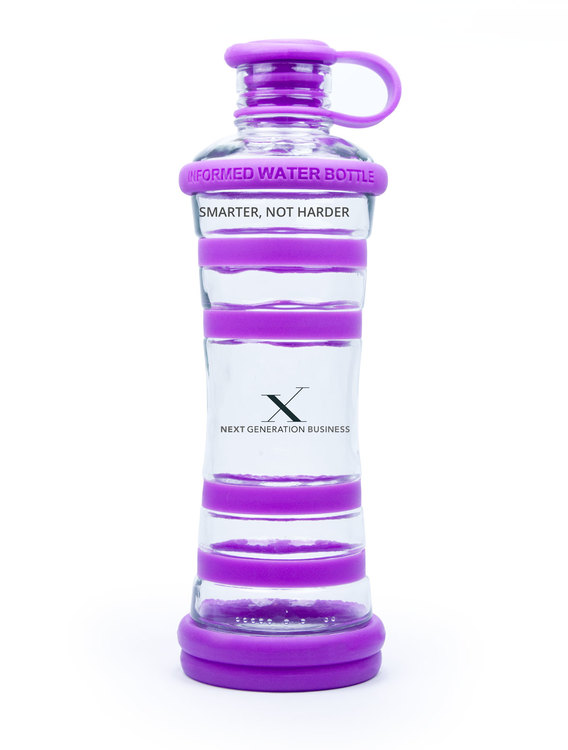 Glasflaska Violett - Next Generation Business