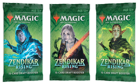 Magic The Gathering Zendikar Rising Draft Boosters - 3-pack