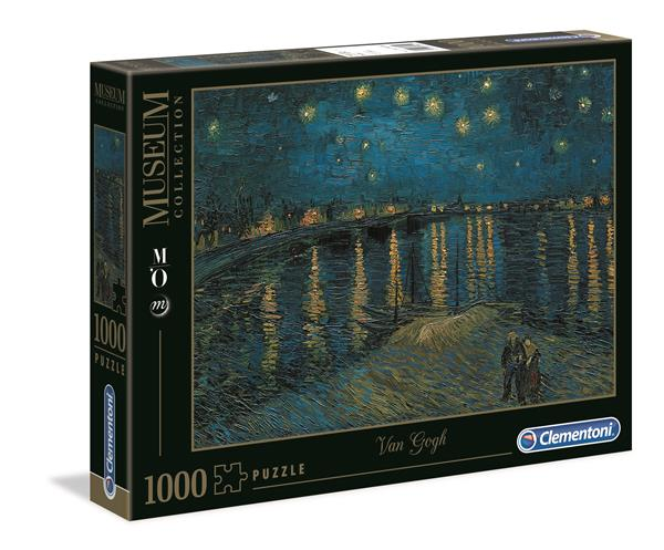 "Clementoni Museum Collection - Van Gogh ""Starry Night Over the Rhone"" (1000 bitar)"