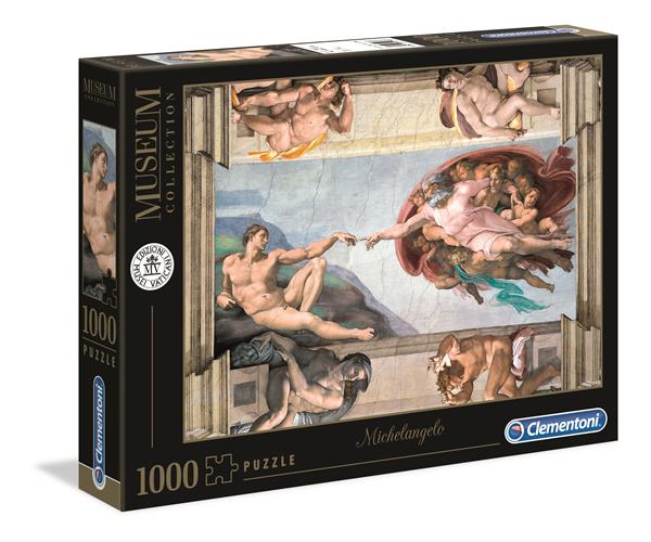 """Clementoni Museum Collection - Michelangelo """"The Creation of Man"""" (1000 bitar)"""