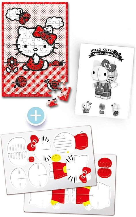 Clementoni Puzzles Kids Pussel - Hello Kitty (104 bitar + 3D-modell)