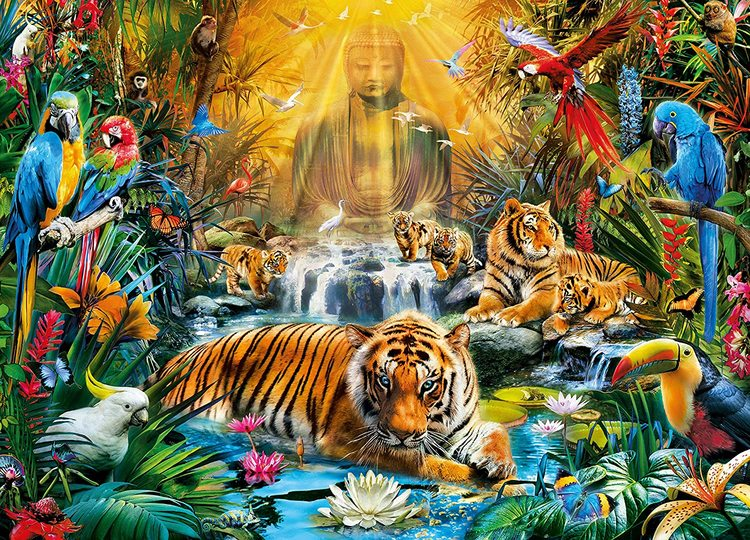Clementoni High Quality Collection - Mystic Tigers (1000 bitar)