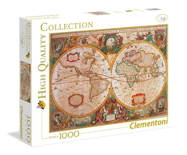 Clementoni High Quality Collection - Old Map (1000 bitar)
