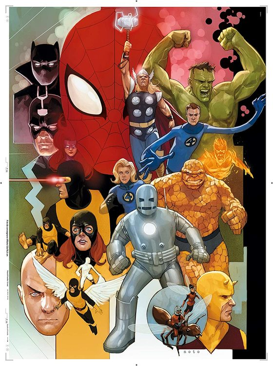 Clementoni High Quality Collection - Marvel 80 Years (1000 bitar)