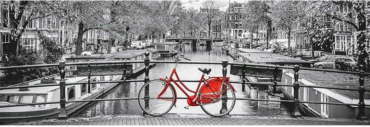 Clementoni High Quality Collection Panorama - Amsterdam Bicycle (1000 bitar)