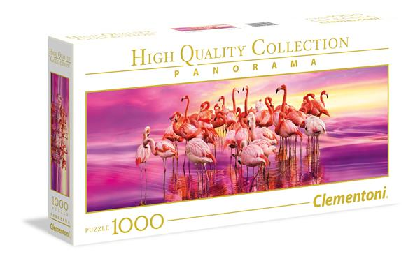 Clementoni High Quality Collection Panorama - Flamingo Dance (1000 bitar)