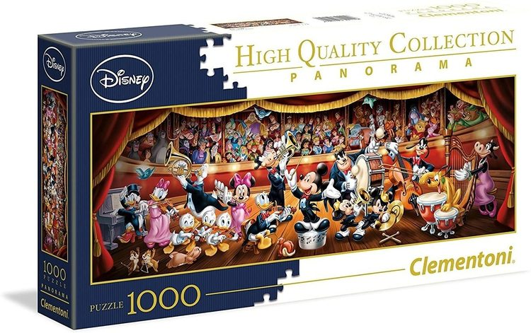 Clementoni High Quality Collection Panorama - Disney Orchestra (1000 bitar)