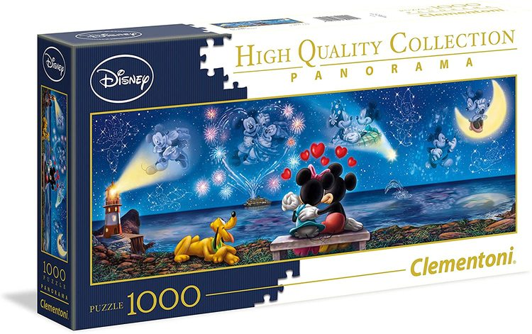 Clementoni High Quality Collection Panorama - Disney Mickey & Minnie Pieces (1000 bitar)