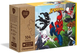 Clementoni Play For Future Puzzles Kids Pussel - Marvel Spiderman (104 bitar) (100% återvunnet material)