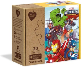 Clementoni Play For Future Puzzles Kids Pussel - Marvel Superhero (2x20 bitar) (100% återvunnet material)