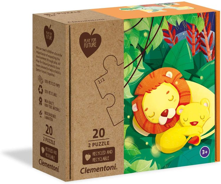Clementoni Play For Future Puzzles Kids Pussel - Tied Together (2x20 bitar) (100% återvunnet material)