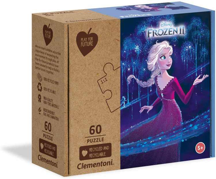 Clementoni Play For Future Puzzles Kids Pussel - Frozen 2 (60 bitar) (100% återvunnet material)