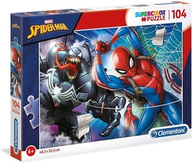 Clementoni Supercolor Puzzles Kids Pussel - Spiderman (104 bitar)