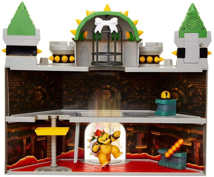 Super Mario Deluxe Bowser Castle with Bowser Figure Playset