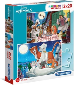 Clementoni Puzzles Kids Pussel - Disney Animal Friends (2x20 bitar)