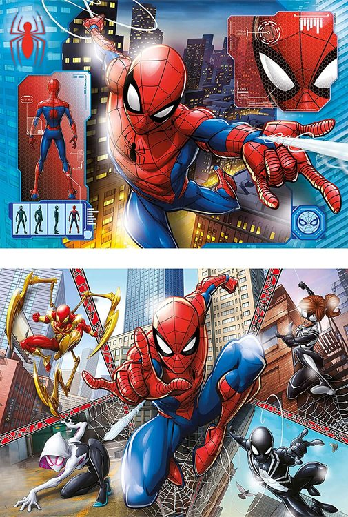 Clementoni Supercolor Puzzles Kids Pussel - Spiderman (2x60 bitar)