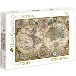 Clementoni High Quality Collection - Old Map (3000 bitar)