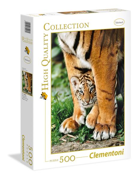 Clementoni High Quality Collection - Bengal Tiger Cub Between Its Mother's Legs (500 bitar)