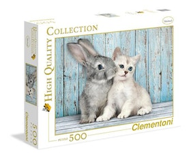 Clementoni High Quality Collection - Cat & Bunny (500 bitar)
