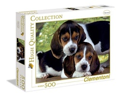 Clementoni High Quality Collection - Puppies Close Together (500 bitar)