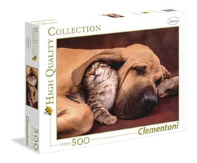 Clementoni High Quality Collection - Dog & Cat Cuddles (500 bitar)