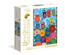 Clementoni High Quality Collection Square -  Cute Little Owls (500 bitar)