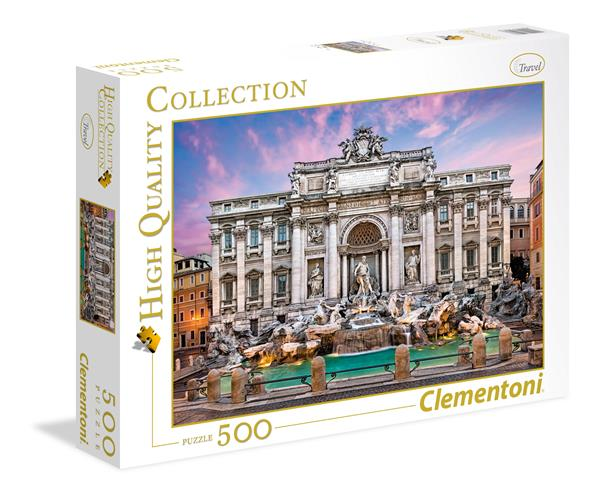 Clementoni High Quality Collection - Trevi Fountain (500 bitar)