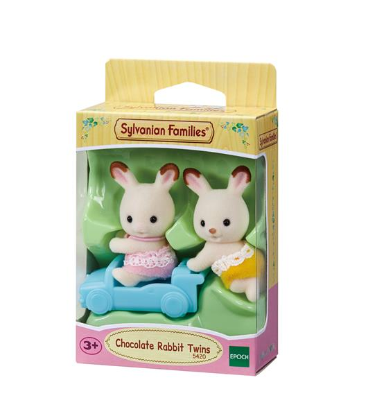 Sylvanian Families Chocolate Rabbit Twins 5420