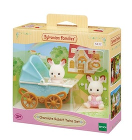 Sylvanian Families Chocolate Rabbit Twins Set 5432