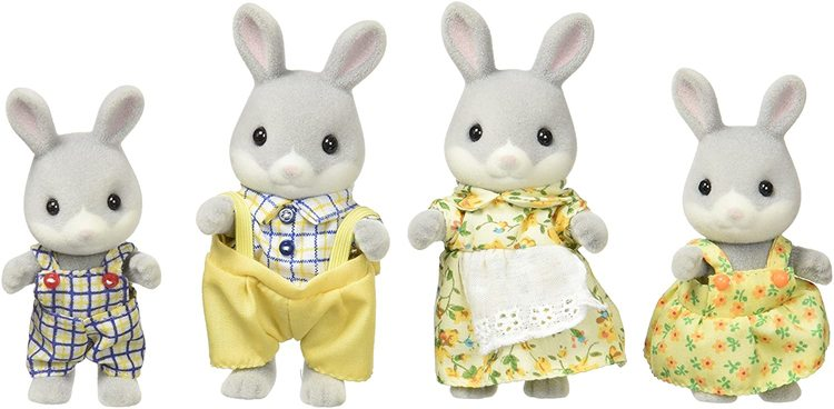 Sylvanian Families Cottontail Rabbit Family 4030